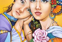 Piękne kobiety / malarstwo portretowe