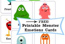 [Theme] Monster - Everything Monsters! / Monster activities, crafts, songs and free printable resources to help educate and entertain toddlers. #monsters #monsterparty #monstercrafts