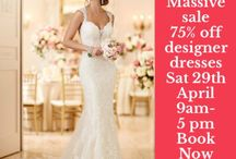 Wedding dress sale / 75% off Stella York dresses , Allure , Sophia Tolli, Madison James , book now .