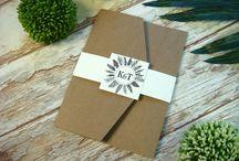 zaproszenia ślubne w folderze