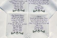 Irish Blessing Embroidered Wedding Hankerchiefs Claddagh / Irish Blessing Embroidered Wedding Hankerchiefs Claddagh #irish #irishwedding #irishblessing #wedding #gift #clover