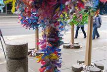 plastic bottle recycling art