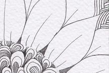 bocetos láminas flores