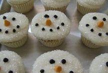 Cupcakes - Snowmen and yummy treats