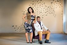 Styled engagement session from the 21c Museum Hotel in Durham, NC.