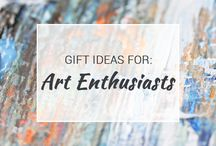 Gift Ideas for Art Enthusiasts / Are you an artist? Simply love and appreciate art? Then you'll love the gift ideas on this board!