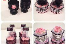 Chá de panela preto e rosa