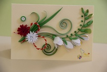 Trinket quilling cards