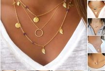 Hot New Gold Plated 3 Layer Chain Bar Necklace