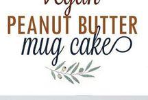Vegan peanut butter mug cake
