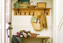 Mini Mudroom / I have a small space for a mini mudroom...  i must stay focused and not dream about those huge custom-built mudrooms that people have!