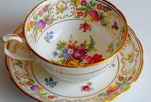 Teacups/China.(Tekopper.)