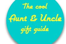 The cool Aunt & Uncle gift guide / We know you're the cool Aunt or Uncle, but here are some gift ideas to make things easier!