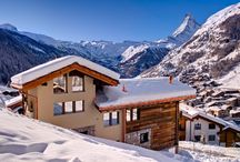 Chalet Grace in Zermatt / Chalet Grace is built to the highest standard, featuring floor to ceiling windows on all three levels, and a dramatic vaulted interior. South facing balconies capture the breathtaking scenic views of the Matterhorn and surrounding mountains. Sleeping 10 adults and 2 children. http://www.ultimateluxurychalets.com/luxury-chalet-grace-zermatt
