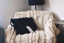 Уютно / Вязанные чехлы на мебель