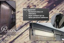 Série Rustique / Notre sélection de portes Rustique vous permet de créer une ambiance totalement différente. Sa construction en bois massif et son rail apparent redéfiniront complètement l'âme de votre pièce. Le design rustique n'aura jamais eu aussi fière allure.