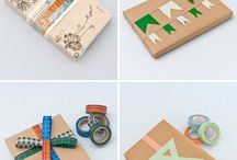 Washi tape gift wrapping ideas / Washi tape gift wrapping ideas