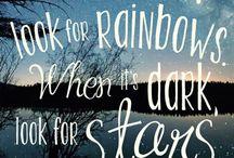 Citaten / Rainbows and stars