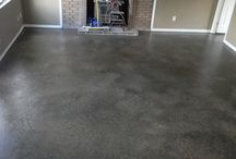 Paint concrete floors