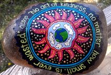 Rocks - painting ideas and inspiration / The art pinned on this  board is to serve as inspiration for my new venture into painting rocks and stones. I need help! My latest obsessions;Owls,Suns see suns board, flora/mandalas, henna art too! / by to live happy