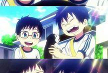 Blue exorcist / me encanto mucho este anime la peli la serie especial etc.