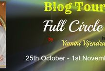 Full Circle  by Yamini Vijendran / Outwardly, Malini is a contented, sixty-something grandmother with a loving family and everything a person could wish for. But Malini has lived her entire life with a secret confined to the deepest recesses of her heart.  Haunted by the past, she travels to Kumbakonam, her native town, which she had left years ago. There, she comes face-to-face with her long-lost love.  After forty years, will Malini be able to reclaim her own life, when love comes knocking at her door once again? (
