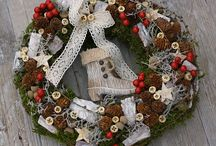 Christmas decorations, wreaths