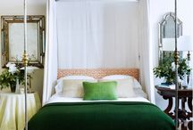 Great in Green / Green shades of #home #decor from emerald to mint to avocado and beyond.
