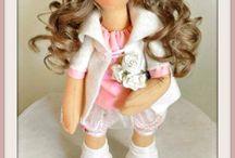 Handmade doll by Simida / Ruční práce. Šití.