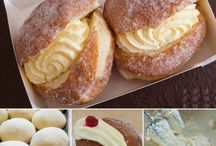 Cream buns and cream cake