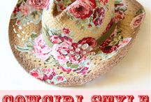 DIY: Summery Sun Hats / Decorate your plain old sun hat to make it unique and fabulous!