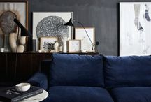 Blue & Gray Color Inspiration / A look at the color combination of blue and gray.