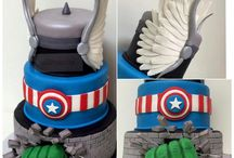 Avengers cakes, cookies and cupcakes