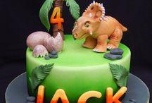 torta con dinosaurios
