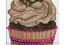 Cross stitch cupecake