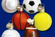 Sports / Old World Christmas Glass Ornaments have several sport ornaments to represent all the athletes in your family at Christmas.