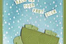 Tortoise upside down card