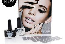 Monochrome Manicure/ Negative Space Nails