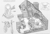 イラストの家