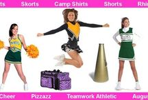 Buy Custom Cheer Leading Uniforms / We offer great options for making your new cheer uniforms look hot!  Finish decorating your new cheer uniforms with heat press, tackle twill, embroidery, or applique. Not sure about exactly how they should look, our experienced graphic design team can help create a sparkling hot look that shows off your spirit and passion, because at Affordable Uniforms we make C-U-S-T-O-M cheerleading apparel and uniforms happen