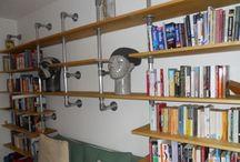 DIY Shelving / Inspiration for DIY shelving using Tube and Fittings