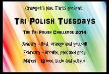 Crumpet's Nail Tarts Tri Polish Challenge / Crumpet's Nail Tarts Tri Polish Challenge.