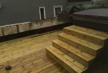 Hot tub steps / Wooden hot tub steps: Approximately 120cm wide 16cm upstep and 26cm instep. 4 upsteps and 4 insteps the top is 50cm.
