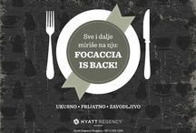 FOCACCIA IS BACK / We are pleased to announce that from February 2014, the Focaccia Private Room & Lounge will be open for dinner, every day from 6:00pm till 12:00 midnight.  / by Hyatt Regency Belgrade