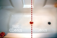 Bathroom Cleaning Ideas and Tips / Tips, advice, and helpful hints for cleaning the bathroom.