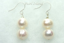 Pearl Earrings, Freshwater Pearl Earrings / Quality freshwater pearl earrings - handmade in the UK - by Pearl Island: www.pearlisland.co.uk