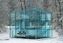Glass creations / A collection of amazing items, houses made out of glass.
