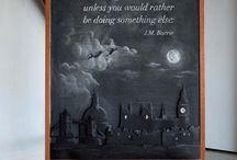 Anonymous chalkboard series / This series magically appears and is by two unknown artists