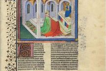 MS M. 1044 Le Livre de la Chasse,  c.1407 version. / Miniatures from the 1407 version of the Gaston Phebus Book of the Hunt.  Click through the image to go to the Morgan Library website for a zoomable view.