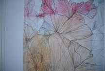 "Paitings / Paintings mix 2009 - 2013. Watercolours, used german paper, ""kuupaperi"", using marker pens, wax colour, etc."